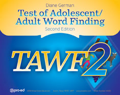 Test of Adolescent/Adult Word FInding-2